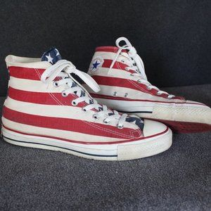Vintage Converse Made In USA 1990s, US Flag